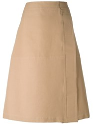 Marni A Line Midi Skirt Brown