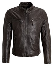 Gipsy Coby Leather Jacket Dunkelbraun Dark Brown