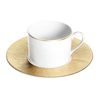 Haviland Infini Prestige Teacup And Saucer Gold