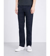 Armani Collezioni Regular Fit Stretch Cotton Chinos Navy