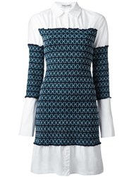 Opening Ceremony Gathered Shirt Dress Blue