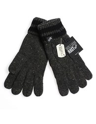 William Rast Cable Knit Gloves Black