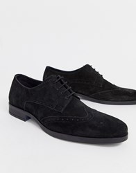 Pier One Brogues In Black Suede