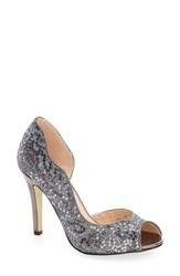 Pink Paradox London Women's 'Eve' Half D'orsay Pump Pewter