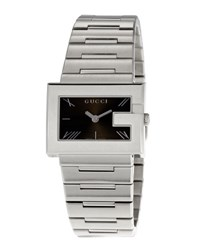 Gucci G Rectangle Stainless Steel Watch Black