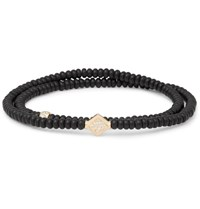 Luis Morais Onyx Gold And Diamond Wrap Bracelet Black