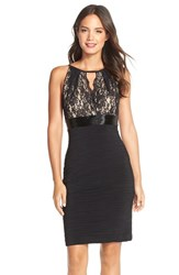 Women's Js Boutique Lace And Jersey Sheath Dress
