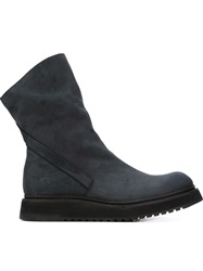 Cinzia Araia Ridged Sole Boots Blue