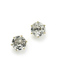 Ippolita 18K Gold Rock Candy Medium Round Stud Earrings In Clear Quartz