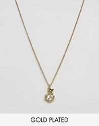 Ted Baker Cat Pendant Necklace Gold