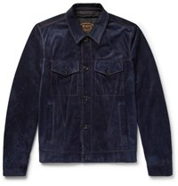 Tod's City Suede Jacket Midnight Blue