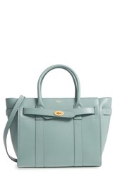 Mulberry Small Zipped Bayswater Calfskin Leather Satchel Blue