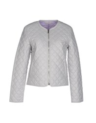 Stefanel Coats And Jackets Jackets Women Light Grey