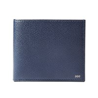 Rsvp Paris Navy Grained Leather Billfold Coin Wallet Blue