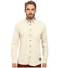 Moods Of Norway Anders Vik Long Collar Shirt 151067 Off White Men's Long Sleeve Button Up Beige