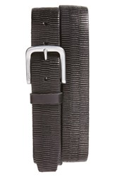 John Varvatos Men's Star Usa Laser Scored Leather Belt