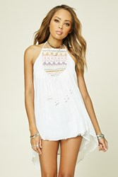 Forever 21 Boho Me Embroidered Tunic