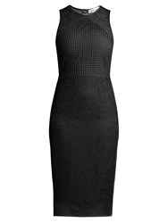 Diane Von Furstenberg Twig And Circle Lace Sleeveless Midi Dress Black