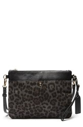 Sole Society Tasia Convertible Faux Leather Clutch Grey