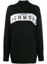 John Richmond Cufra Intarsia Logo Sweater Black