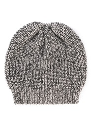 Brunello Cucinelli Marled Knitted Beanie Grey