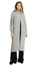 Temperley London Dawn Knit Cocoon Coat Grey