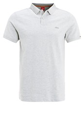 S.Oliver Red Label Polo Shirt Marble Light Grey