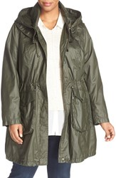 Laundry By Shelli Segal Plus Size Women's Double Collar Hooded Anorak
