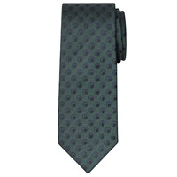 Chester Barrie By Twill Circle Dot Silk Tie Green
