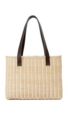 Hat Attack Wicker Basket Bag Natural