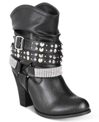 Mojo Moxy Dolce By Bundles Western Booties Women's Shoes Black