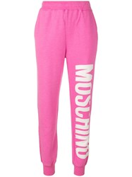 Moschino Logo Print Track Trousers Pink