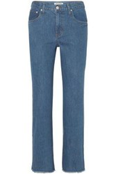 Elizabeth And James Woman Holden Two Tone High Rise Straight Leg Jeans Mid Denim