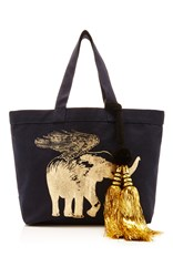 Figue Flying Elephant Tote Navy