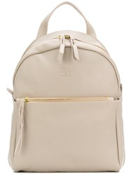 Il Bisonte Classic Backpack Nude And Neutrals