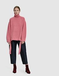 Ellery Wallerian Oversized Knit Sweater Pink