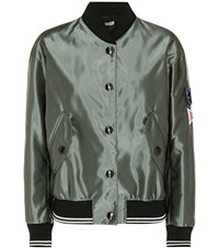 Miu Miu Bomber Jacket Green