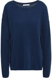 Duffy Woman Button Detailed Cashmere Sweater Navy