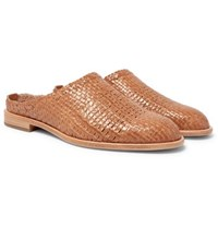 Hender Scheme Woven Leather Loafers Tan