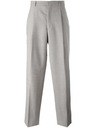 E. Tautz Wide Leg Pleated Trousers Nude Neutrals