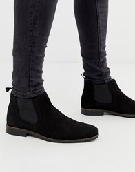 Red Tape Black Suede Chelsea Boot