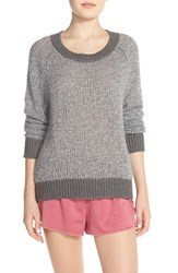 Women's Make Model Knit Crewneck Sweater Grey Filigree