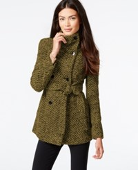Calvin Klein Belted Boucle Peacoat Oatmeal Basket