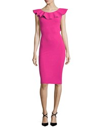 La Petite Robe Di Chiara Boni Marika Sleeveless Ruffle Cocktail Dress Azalea Pink