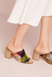 Anthropologie Firenze Garbo Heeled Mules Novelty