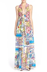 Women's Etro Floral Print Tiered Cotton And Silk Sundress