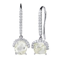 Diamond In The Rough Champagne Bubbles Dangle Earrings Gold