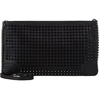 Christian Louboutin Women's Loubiposh Studded Clutch Black Blue Black Blue