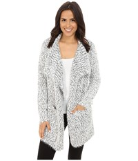 P.J. Salvage Blk N Blush Cardigan Black Women's Sweater