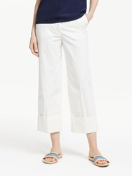 Boden Hambledon Cotton Turn Up Trousers Ivory